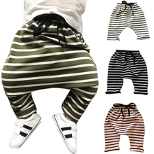 0-3 years Baby Harem Pants Autumn Winter cotton striped Newborn Thicken Trousers Soft Sweat infant