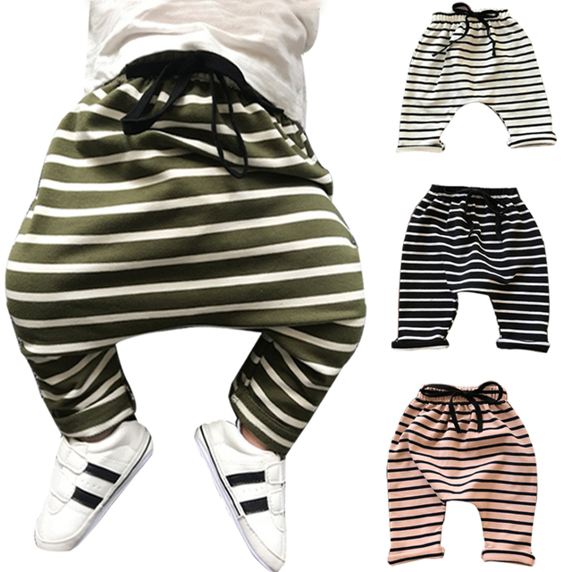 76293c49a1f9 0 3 years Baby Harem Pants Pants Autumn Winter cotton striped ...