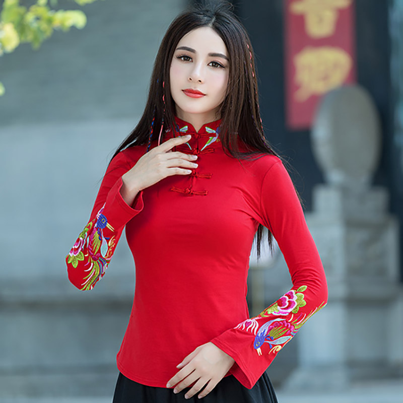 Brand Embroidery Tshirt Women Camisetas Mujer Casual Autumn Winter T Shirt Feminina Plus Size Top Women Clothes Tops Tee Vintage