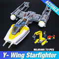 Lepin 05065 New 691Pcs Genuine Star War Series The Y-wing Starfighter Set Building Blocks Bricks Educational Toys Gift 75172