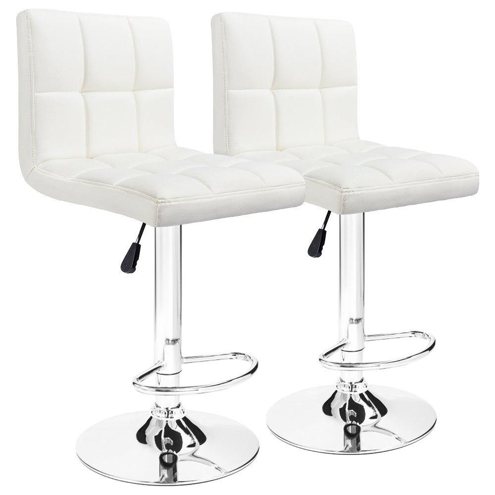 Homall барные стулья Поворотный Черный Таможенный Кожа, регулируемая по высоте паб барный стул мебель, набор из 2 нами FR DE со T-HFBS00