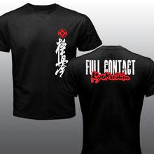 2019 Fashion Double Side New Mas Oyama Full Contact Karate Kyokushin Kai Kan Japa Kanji Symbol T-Shirt Unisex Tee