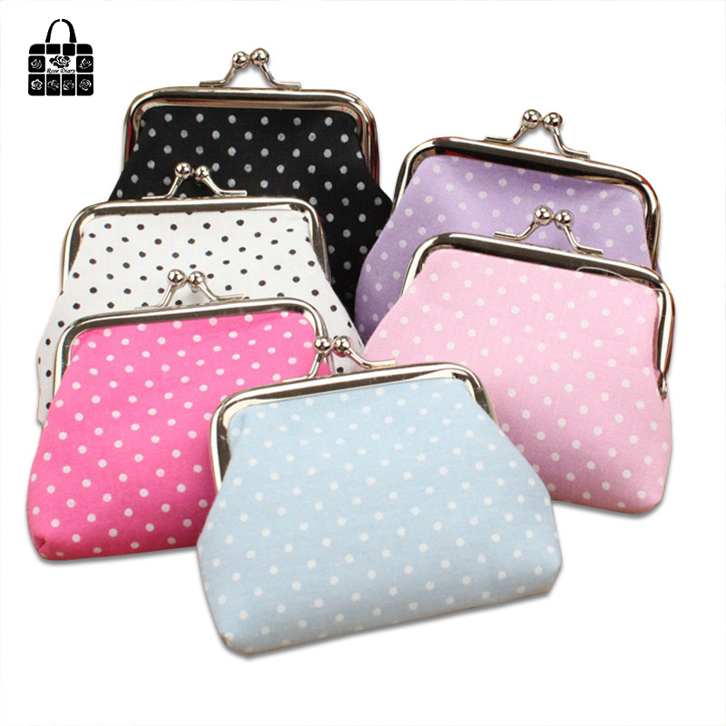 Rose diary new Multicolor simple fashion cute polka dot female Coin Purse key bag mini portable storage bag small gifts