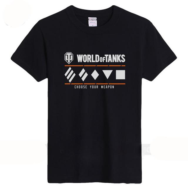 2016 el último estilo de la camiseta para hombre de manga corta copa del mundo de tanques en el verano la cuello redondo de algodón puro el juego