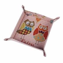 LINKWELL 1 шт. модные розовые Сова Вера милый дизайн для девочек кожаные мужские из полиуретана Catchall изменить ключ бумажник коробка для монет лоток для хранения
