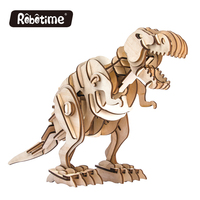 Robotic Walking Prehistoric Animal 3D Wooden Puzzle Dinosaurs T Rex Model Kids Love Educational Gifts With