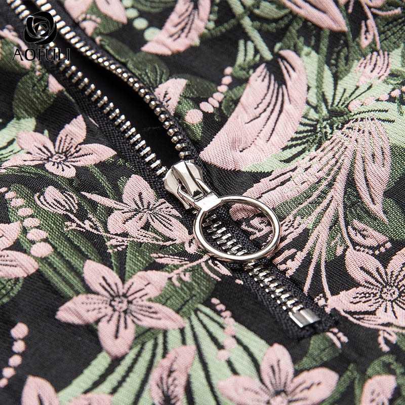 M/L/XL ファッション女性ジュエリーボタン花ジャカードスカート女性ビッグサイズ春秋カジュアル服 AOFULI 1041