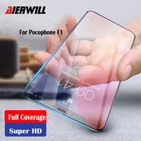 Glass for Pocophone F1 Tempered Glass Full Cover 9H  Premium Screen Protector For Xiaomi Pocophone F1 Glass Cover Poco F1 Glass