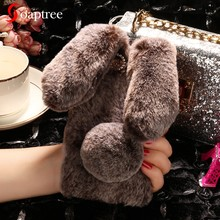 Luxury Warm Rabbit Fur Smart Phone Cases For Blackview A7 A7 Pro Case Coque For Blackview A60 BV9600 Pro Cover Cute Furry(China)