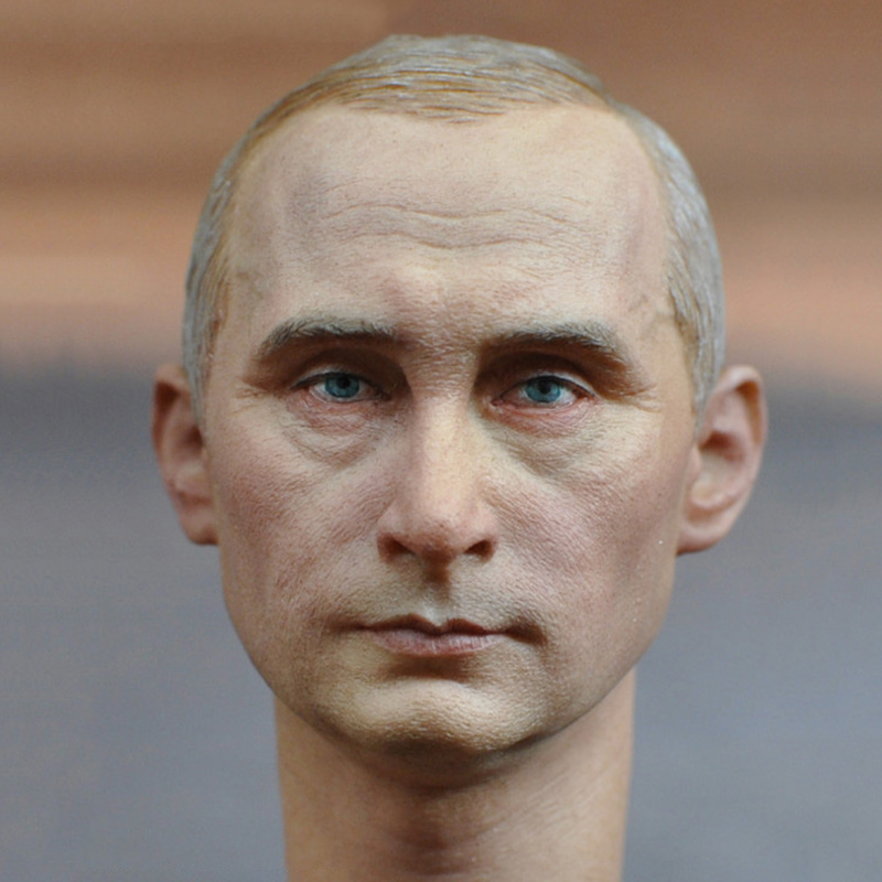 купить 1/6 Scale Male Head Sculpt Russian President Putin Headplay Collections for 12 inches Action Figure недорого