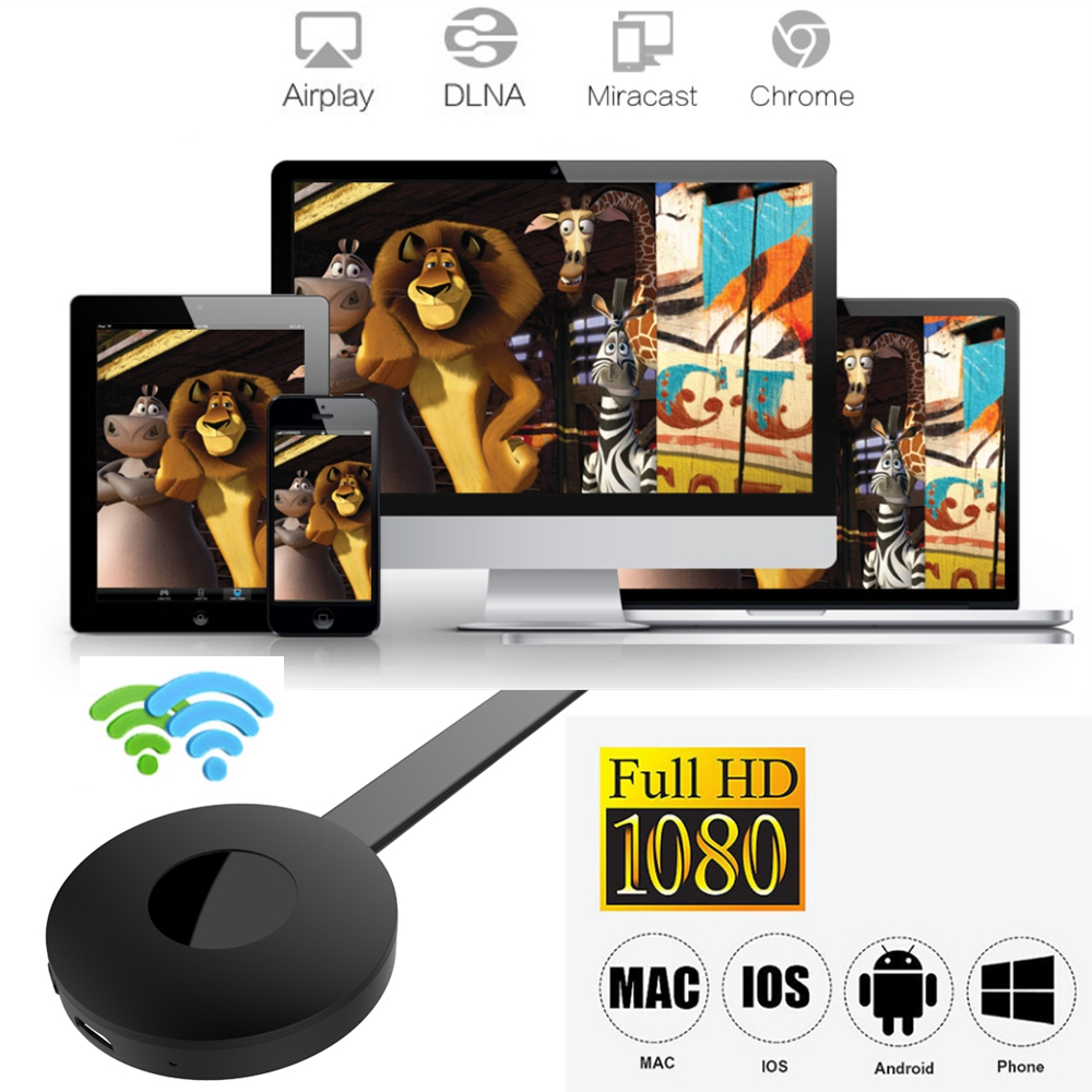 Chromecast Media Video HDMI Wireless WiFi Display Miracast Adapter Dongle 1080P HDTV For YouTube Google Chromecast 2 TV Stick G2