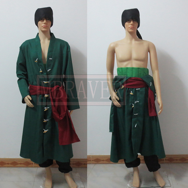 One Piece Roronoa Zoro Cosplay Costume Two years later Custom Made Any Size