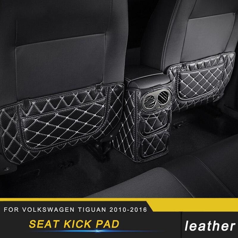 Car Rear Seat Anti Kick Pad Cover Trim For Volkswagen Tiguan 2010 2011 2012 2013 2014 2015 2016