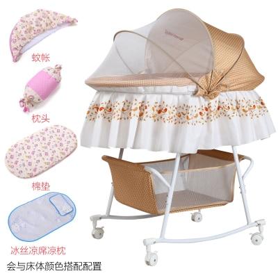 Babybed Aan Bed.Us 91 08 34 Off Babybed Bed Kleine Concentretor Pasgeboren Baby Bed Perambulatory Band Klamboe Multifunctionele Bb Bed Met Roller Slapen In Babybed