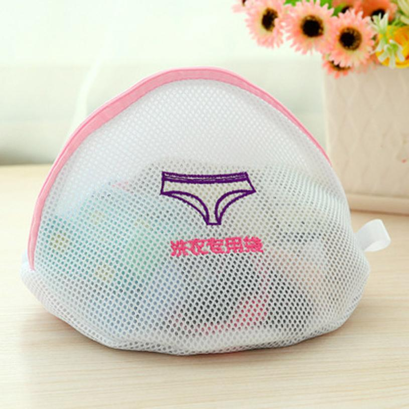 Thickening Double Mesh Layer Zipper Bag Laundry Clothes Protector women Underwear Short Sleeve coat A18