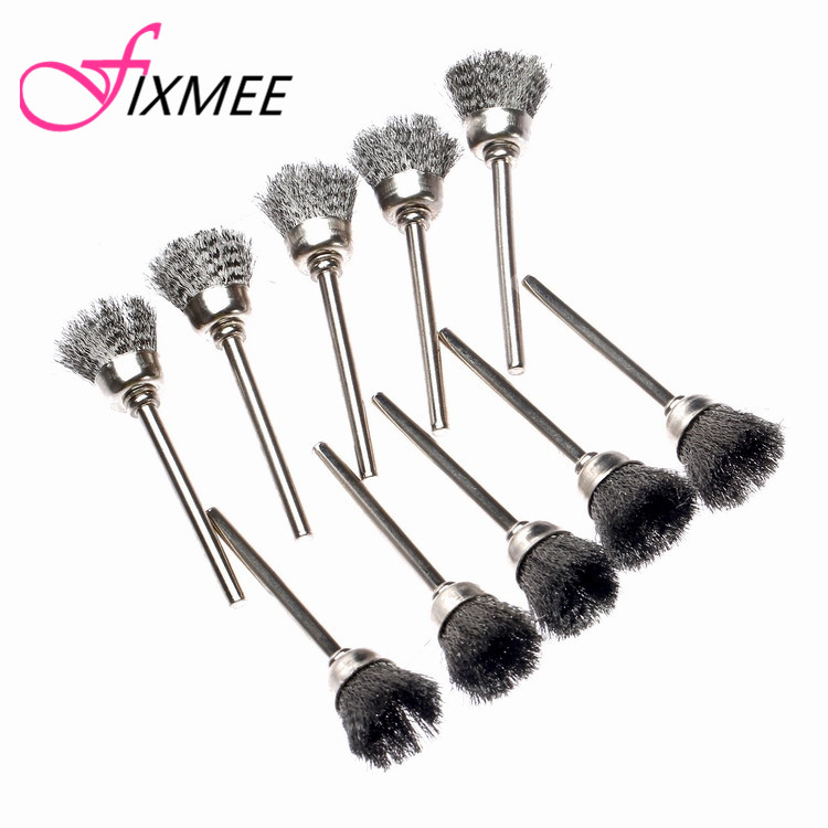 20pcs Dremel Accessories 15MM Steel Wire Cup Brush Rotary Brushes Rotary Tool For Mini Drill Burr Deburring Buffing Polishing