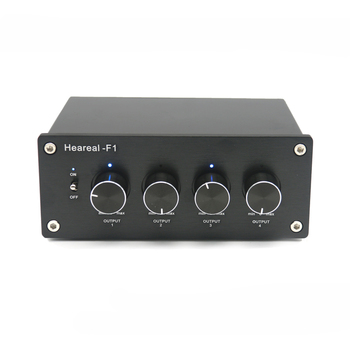 Lossless Hifi audio switcher 1 in 4 output audio input selector hifi lossless 1 input 4 output rca audio distributor ne5532 op amp signal selector tone volume gain adjustments for amplifier