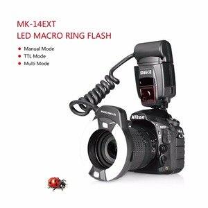 Image 2 - Meike MK 14EXT LED TTL Macro Ring แฟลช Lite AF I TTL Assist สำหรับ Nikon D7100 D7000 D5000 D5100 D3200 D3100 d3000 D800 D700