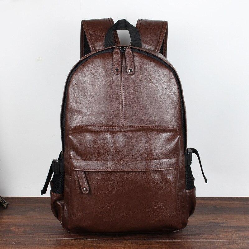 homens mochila de couro de Size : 42*30*12cm