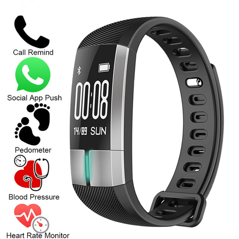 NEW Smart WristBand ECG Real-time Monitoring Blood Pressure Heart Rate Sport Fitness Tracker Bracelet Watch Smart Activity Band