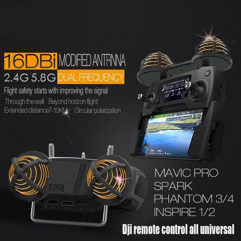 DJI FANTASMA MAVIC FAÍSCA 3/4/4PRO/mavic ar/mavic 2 pro/zoom Controle Remoto antena/faixa de extensão Extensor de Alcance Do Sinal De Reforço