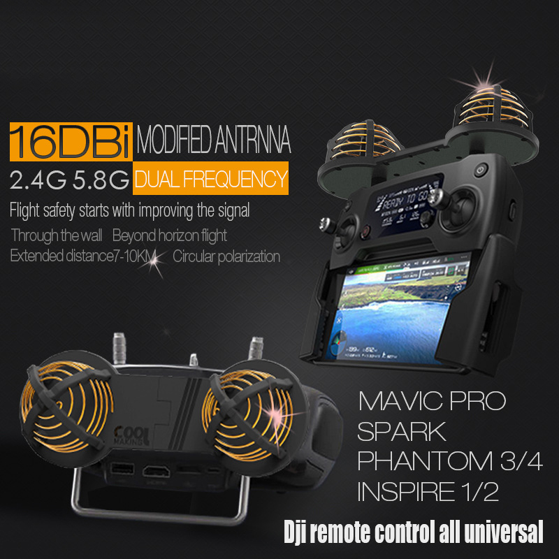 Telecomando Antenna/Portata Del Segnale Del Ripetitore range Extender per DJI MAVIC SPARK PHANTOM 3/4/4PRO/ mavic aria/mavic 2 pro/zoom