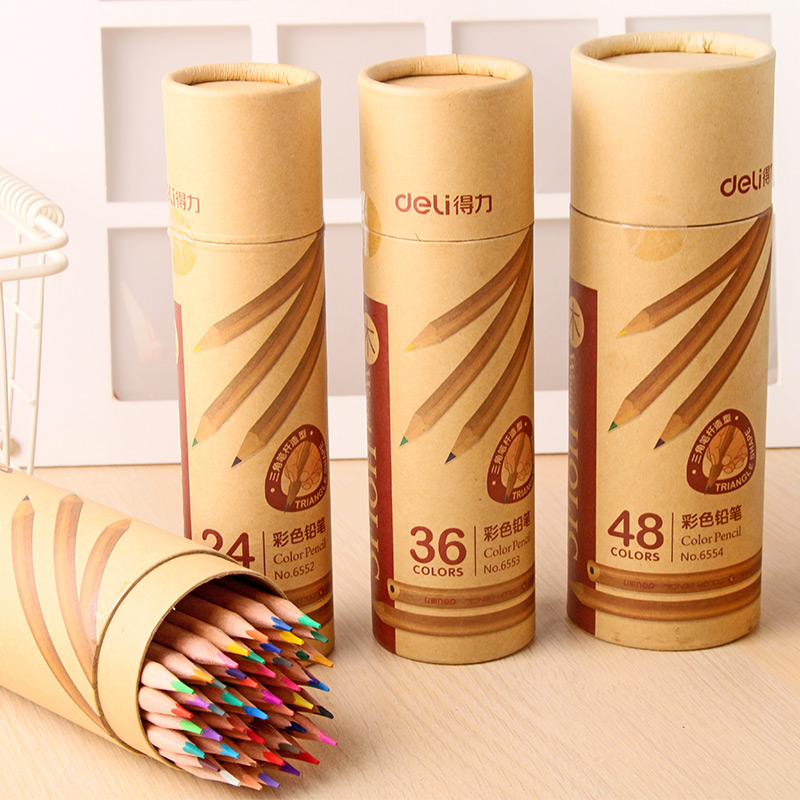 Wooden Color pencils set water color wax pencils pens pastel for drawing Painting Crayons Stationery Office school art supplies bamboo pattern wooden small gadgets pencils rulers pens holder