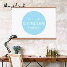 Maganet Wooden Photo Frame Poster Wood Frame Wall Hanger for Poster Picture Canvas Painting Wall Hanging Home Decor(China)