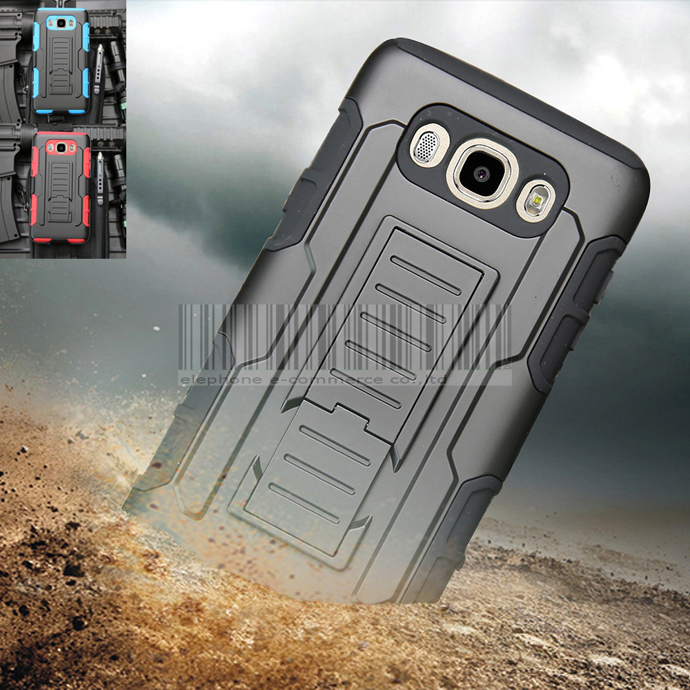 Armor Impact Hybrid Shockproof Stand Hard Holster Case Cover With Lcd Samsung J3 2016 J320 Aa Belt Clip For Galaxy J7 J710 J710f J710m