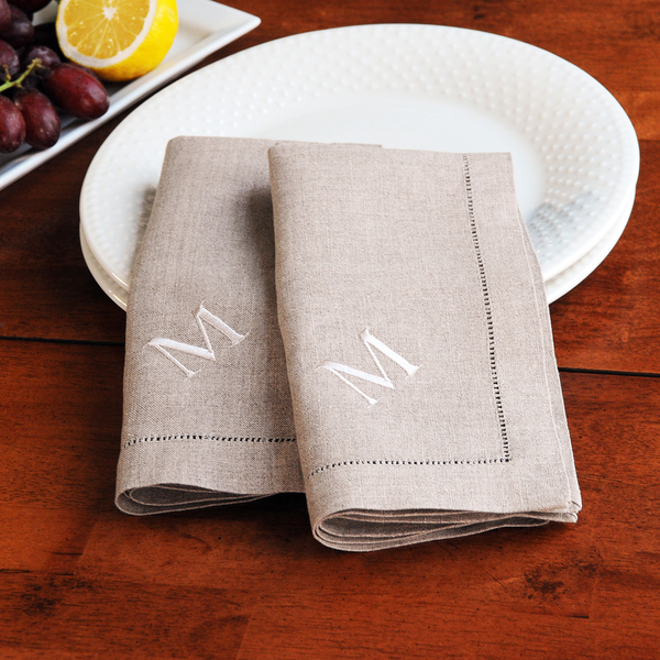 monogram napkins. image of sweary monogrammed cocktail napkins