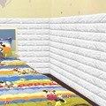 60x60 cm ПЭ Пена Натуральный Стены Наклейки Шаблоны 3D Обои DIY Декор стены Кирпич Для Гостиной Детская Спальня adesivo де parede