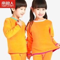 Children Thermal Underwear Kids Plus Thick Velvet Warm Underwear For Kids Children Long Johns From 0