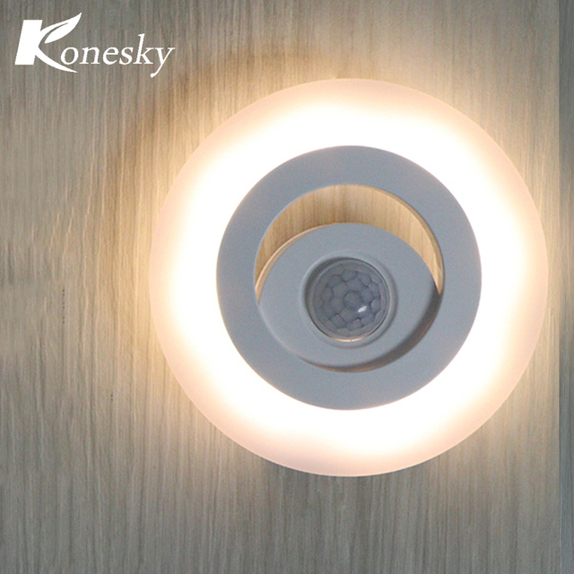 konesky 360 graden draadloze wandlamp ir bewegingssensor led nachtlampje batterij operated verlichting voor onder keukenkasten