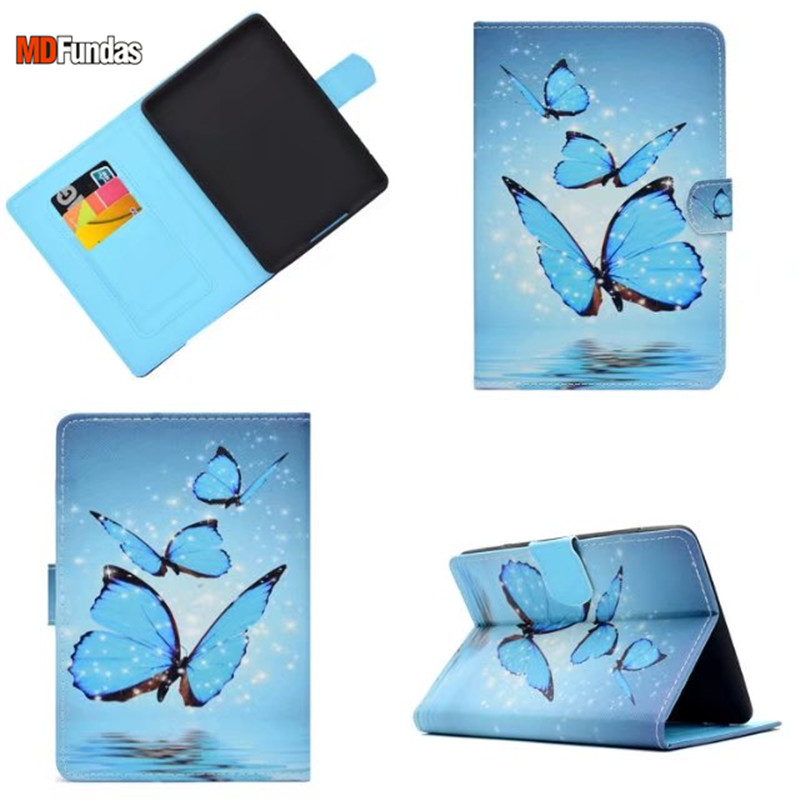 MDFUNDAS Colorful Painted Wallet Bag For Amazon Kindle Paperwhite 1 2 3 Case Flip Stand Leather Cover For Kindle Paperwhite 3 camo leather magnetic smart cover case for amazon kindle paperwhite 1 2 3 2013 cover case 1pcs