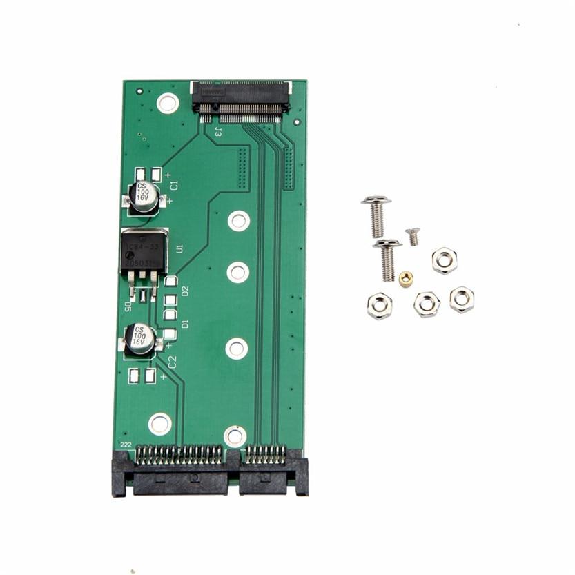 Del Laptop SSD NGFF M.2 To 2.5Inch 15Pin SATA3 PC Converter Adapter Card SZ0411 ssd msata to b key m 2 ngff sata adapter converter adapter card board for laptop desktop