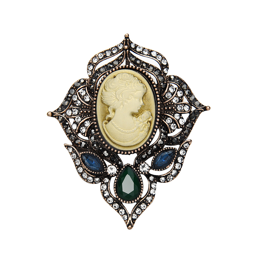 Custom Cameo Resin Pins Diy: New Arrival Large Vintage Queen's Cameo Resin Crystal