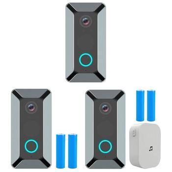 V6 720 P Wifi Kapı Zili Akıllı Kablosuz Bulut Depolama Video Kamera ev güvenlik ev Kapı Zili Interkom Gece Görüş Güvenlik Yüzük