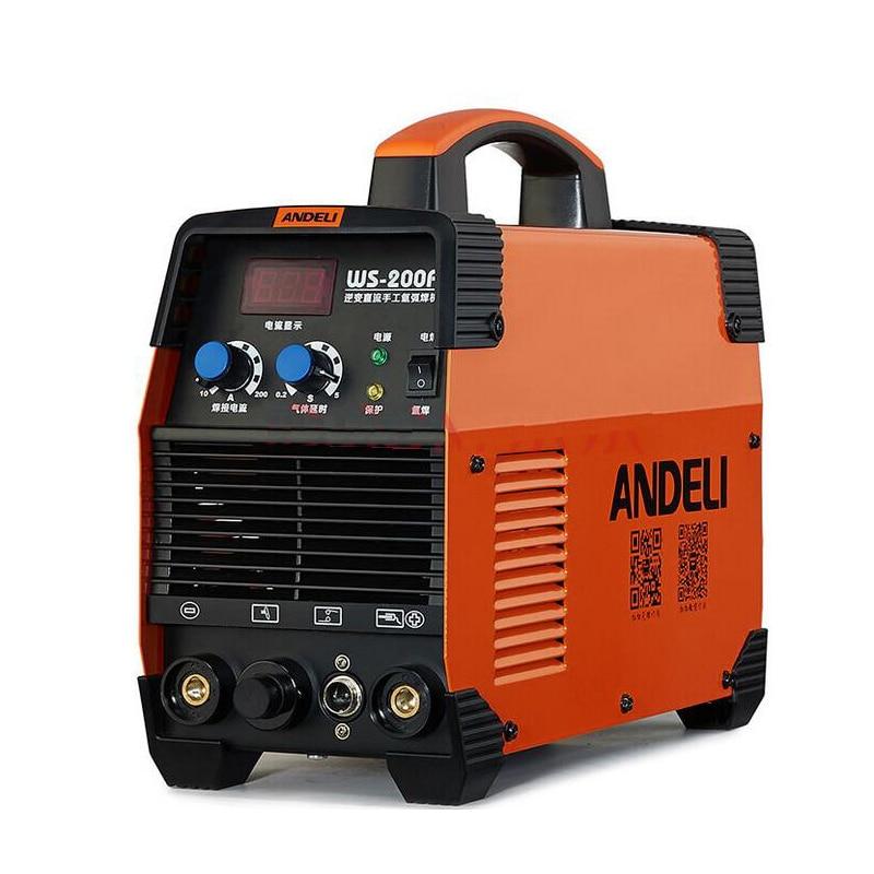 MMA Argon Arc Welding Machine WS-200 MOS TIG Welder 220V 200A LED Display mosfet tig 200a steel welding machine tig machine