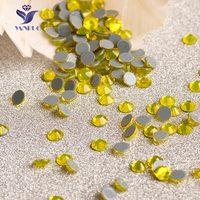 2028HF Citrine Hot Fix Rhinestones SS20 Glass Rhinestone Sew Chain Rhinestones On Clothing Stones For Wedding