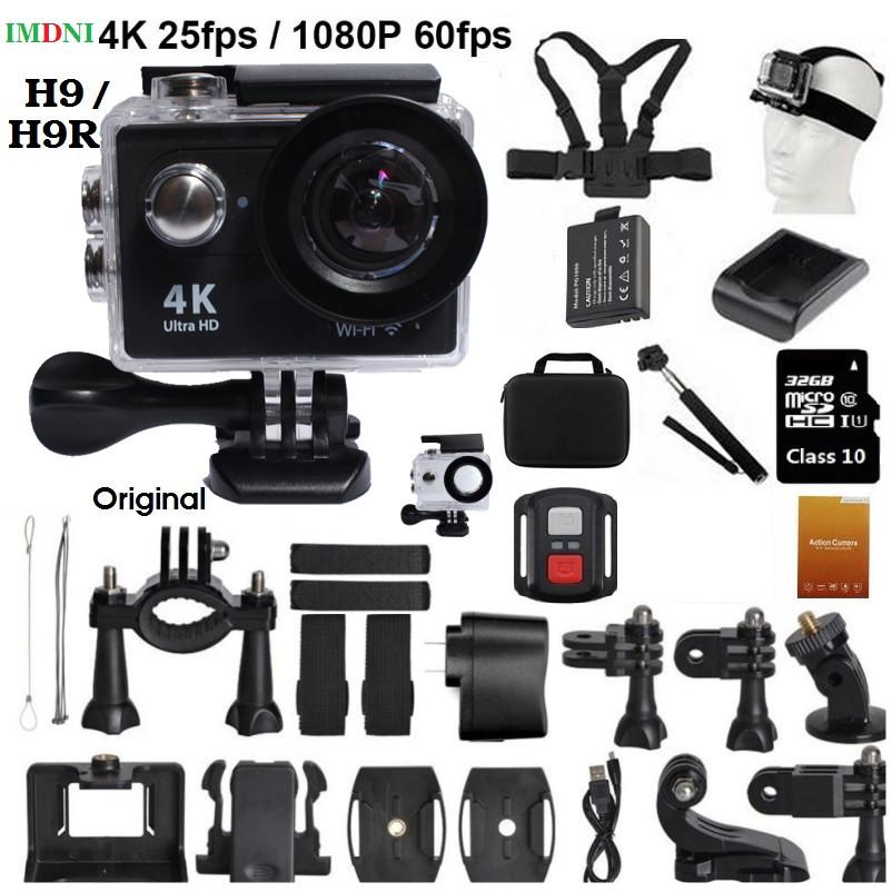 """Prix pour Nouvelle Arrivée! Original H9/H9R Ultra HD 4 K Action Caméra 30 m waterporoof 2.0 """"Écran WIFI 1080 p pro sport Caméra 170D aller"""