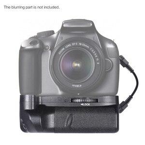 Image 2 - Canon EOS 1100D 1200D 1300D / Rebel T3 T5 T6 DSLR 카메라 용 2 * BG 1H 배터리 그립 용 Andoer LP E10 수직 배터리 그립