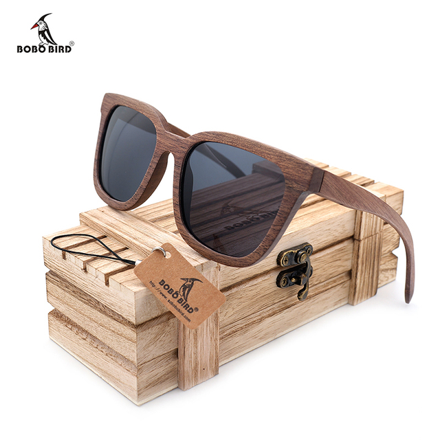 BOBOBIRD Unisex Handmade Nature Wooden Sunglasses Mirror Coating UV 400 Protection Wooden sunglasses As Gift For Women Men OEM