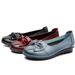 GKTINOO 2019 Shoes Woman Genuine Leather Women Shoes 3 Colors Loafers Women's Flat Shoes Fashion Women Flats 6