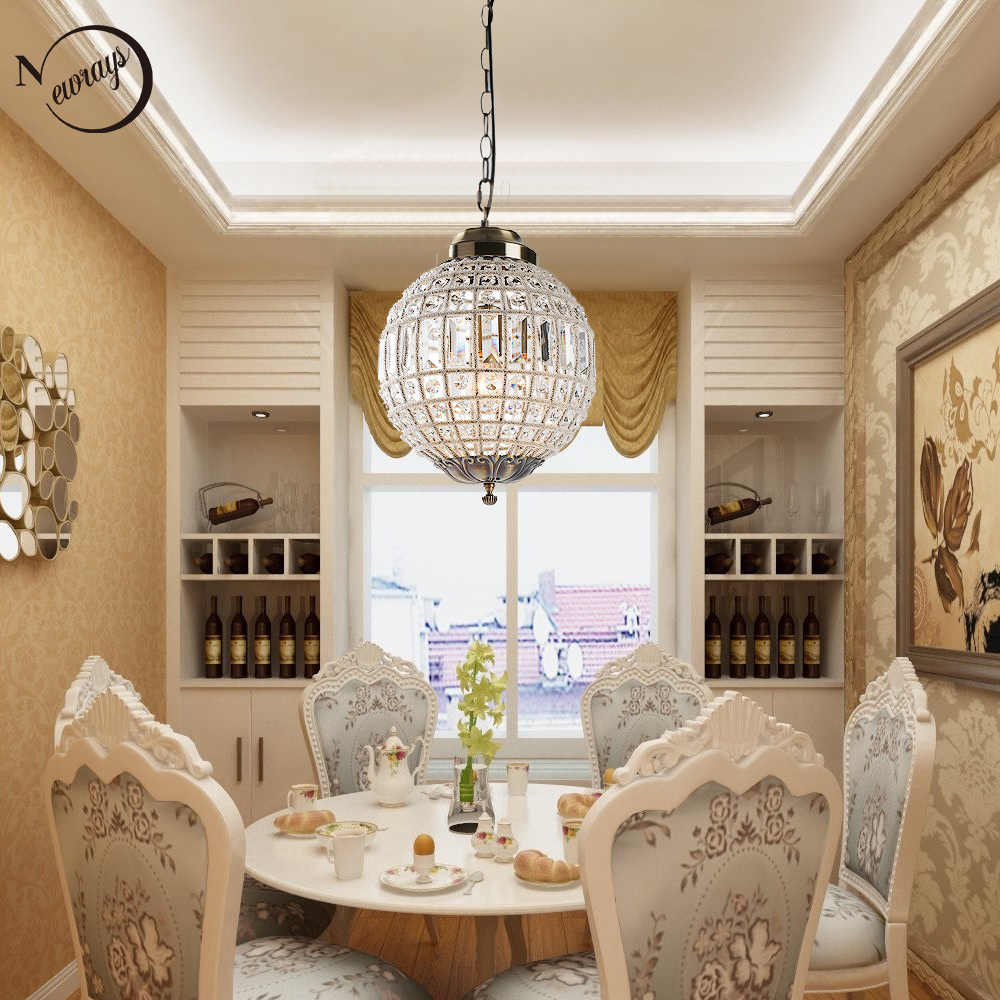 Vintage Royal Empire Ball LED Crystal Modern Chandelier Lamp Lustres Lights E27 For Living Room bedroom lobby restaurant hotel