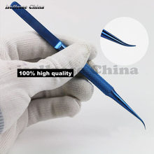 Wozniak titanium alloy Professional Repair Fly line fingerprint Tweezers Pliers Jumper Line for iphone Motherboard Copper wire(China)