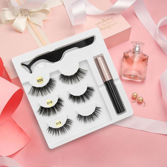 SEXYSHEEP Magnetic Eyelashes Eyeliner Eyelash Curler Set5 Magnet Natural Long Magnetic False Eyelashes With Magnetic Eyeliner 5