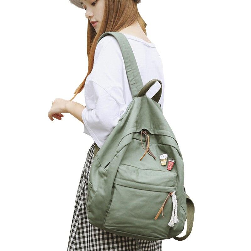 e427e6c96e DCIMOR Women School Backpack For Teenage Girls Large Capacity Female Canvas Backpack  Fashion Student Schoolbag Mochila