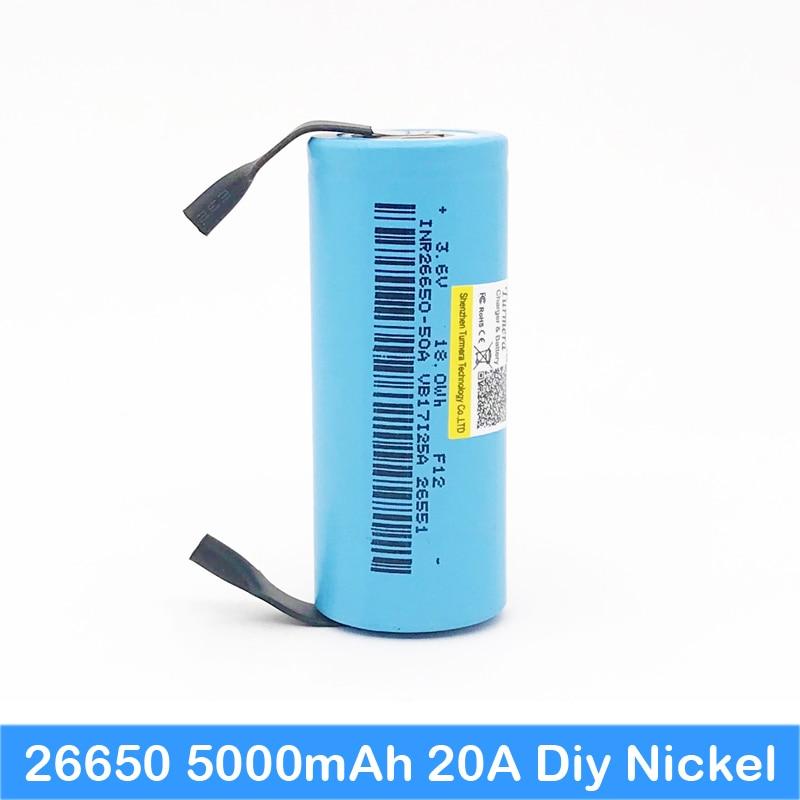 26650 Mod Box Mod Vape 26650 For 26650 Battery 5000mah 20a 3.7v For Flashlight 26650 Turmera Battery J5 Power Source