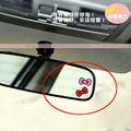 5Pcs Hello Kitty Bow Cute Mini Rearview Reversing Mirror Automotive Car interior stickers Free to Paste Decal Car styling