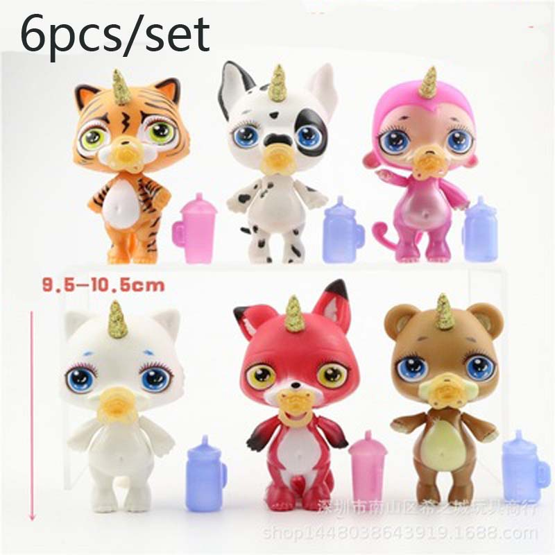 Random Send 1set Anime Figure Pvc Poopsie Slime Surprise Unicorn Banana Action Figure Toys & Hobbies
